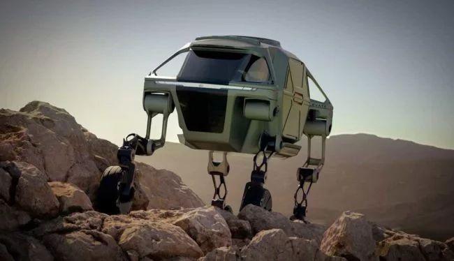 Спасательный автомобиль Hyundai с четырьмя ногами