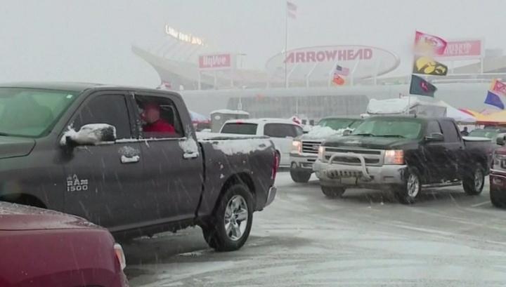 Мощный снежный шторм обрушился на Средний Запад и центральные штаты США