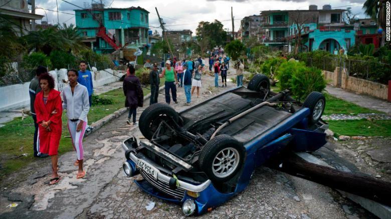 Последствия сильнейшего за последние 80 лет торнадо на Кубе