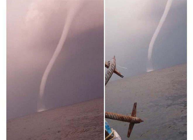 У берегов Пакистана наблюдали водяной смерч