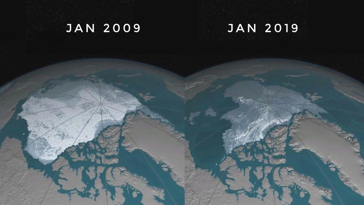 Ледниковый 10 Year Challenge наглядно показывает последствия глобального потепления