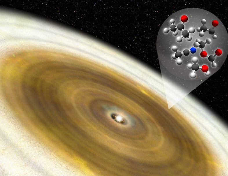 В окрестностях молодой звезды обнаружена сложная органика