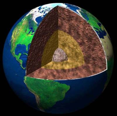 фото планета земля в разрезе