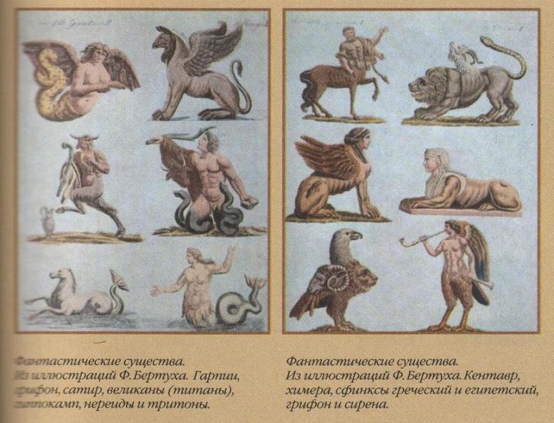 Древние мифические существа список с картинками