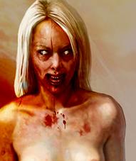 Голая девушка зомби