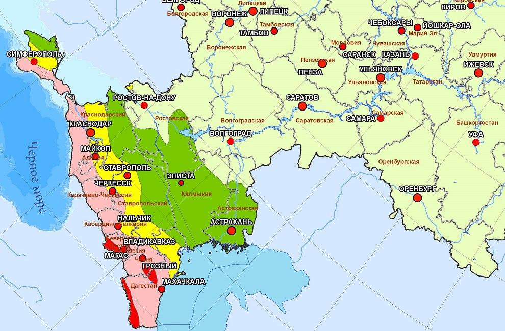 С чем связана сейсмичность на кавказе