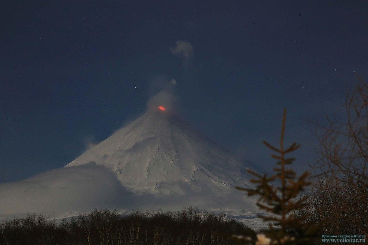 У кратера вулкана Ключевского продолжается термальная аномалия CVAVR AVR CodeVision cvavr.ru