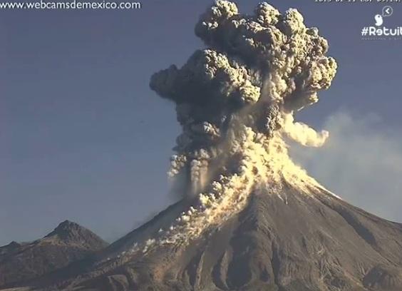Извержение вулкана Колима в Мексике CVAVR AVR CodeVision cvavr.ru