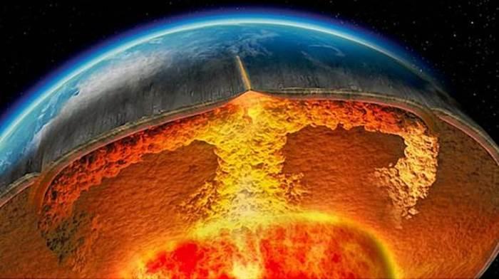 Температура в центре ядра земли - d6150