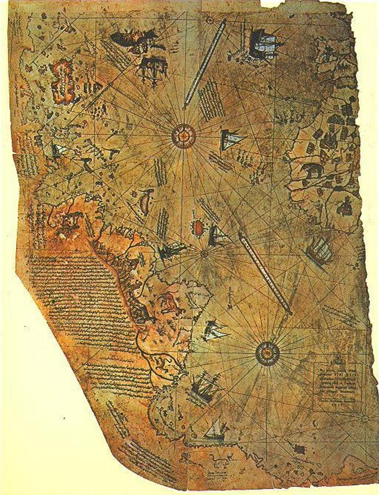 карта Пири Рейса