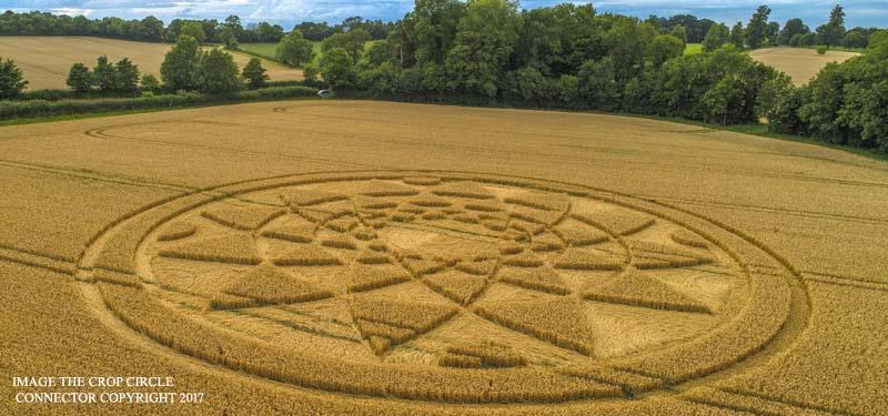 Рисунок на поле в английском графстве Уилтшир