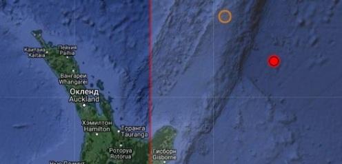 Землетрясение магнитудой 6.2 произошло у островов Кермадек