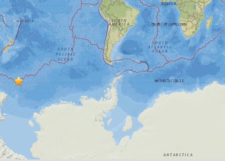 В Антарктиде произошло землетрясение магнитудой 6.0
