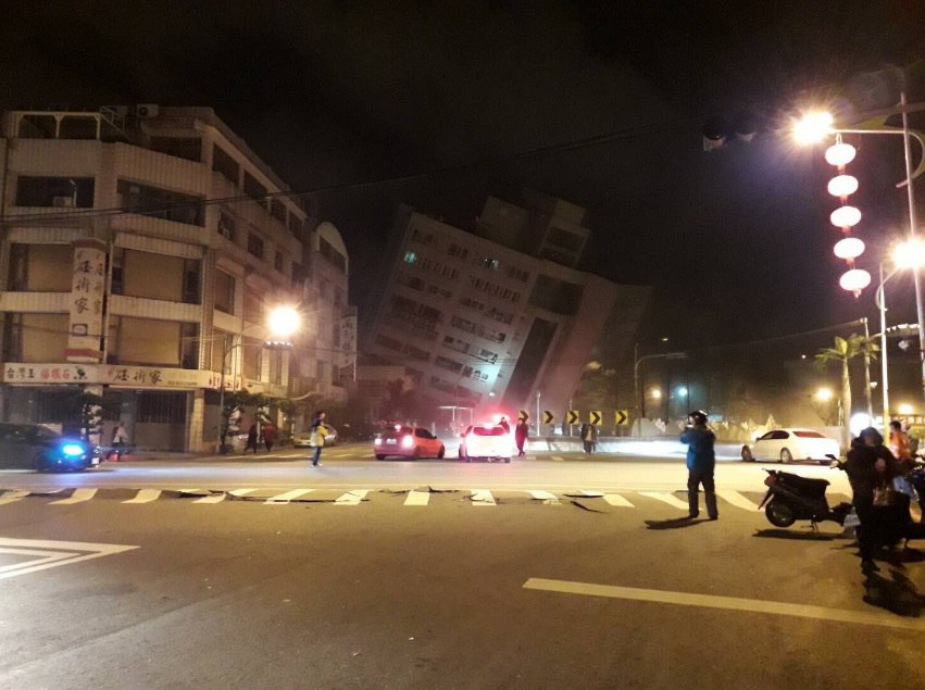 Мощное землетрясение произошло в Тайване