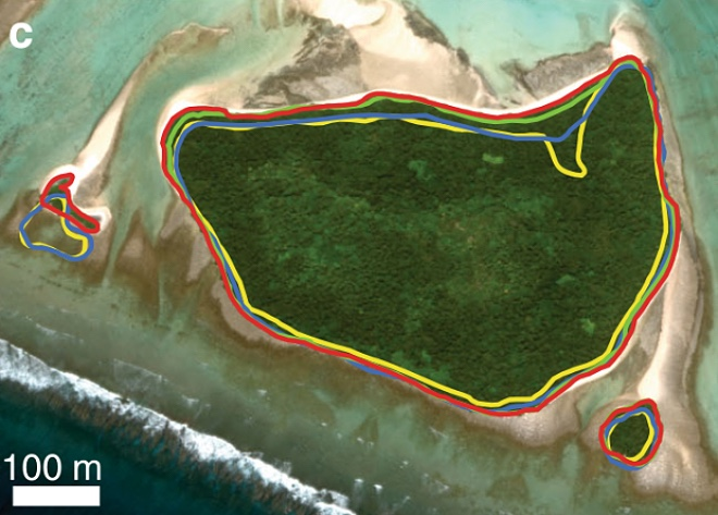 Острова растут вместе с уровнем моря