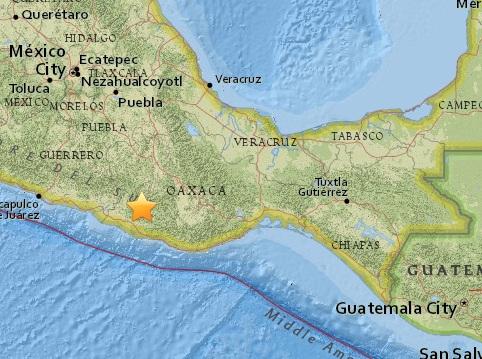 Мощное землетрясение магнитудой 7,5 произошло в Мексике