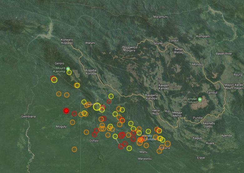 В Папуа-Новой Гвинее продолжаются землетрясения