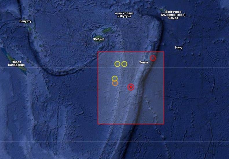 Землетрясение магнитудой 6.1 произошло у Фиджи
