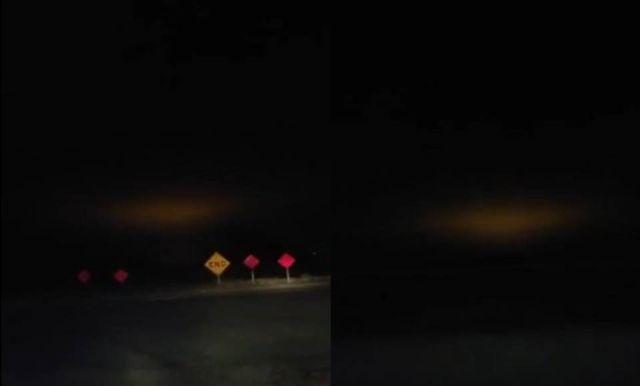 Странный оранжевый свет в небе над Калифорнией