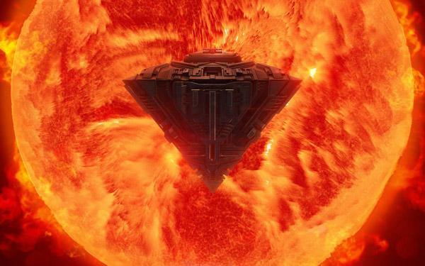 Из Солнца вылетел НЛО размерами в 100 раз больше Земли