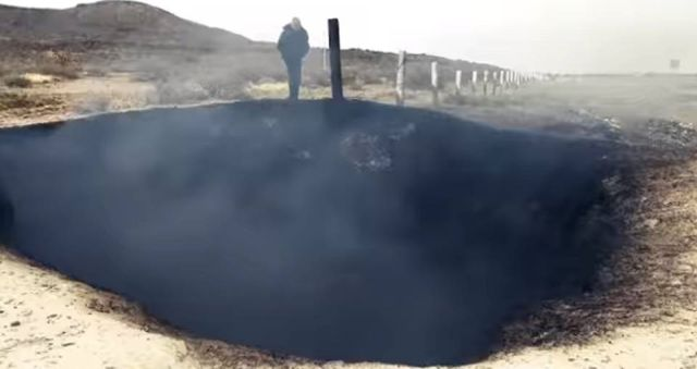 Дымящийся кратер обнаружен в Мексике