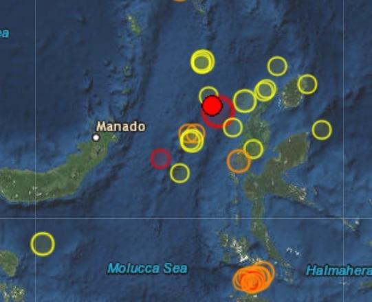 Землетрясение магнитудой 6.6 произошло в Индонезии