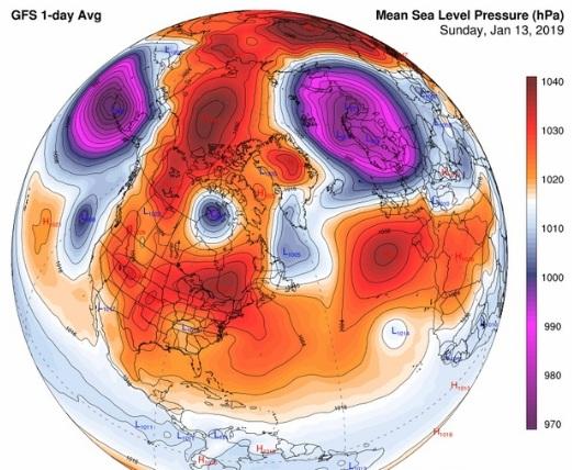 Огромные перепады давления зафиксированы в Северном полушарии