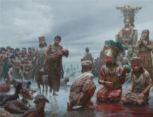 Кровавые жертвоприношения в древнем Перу