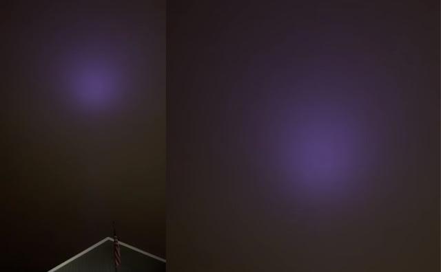 Фиолетовое свечение появилось в небе над Ютой