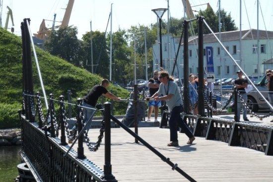 Поворотный мост Клайпеда