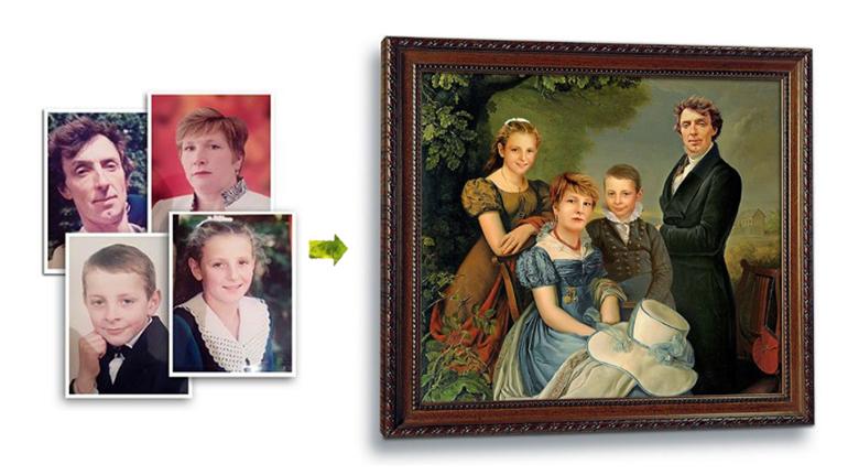 Семейная картина по фото