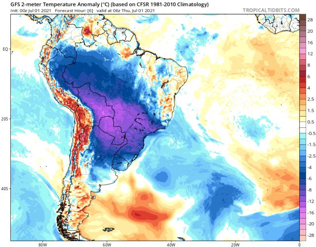 ВБразилии рекордные холода губят урожай кофе, кукурузы исахарного тростника