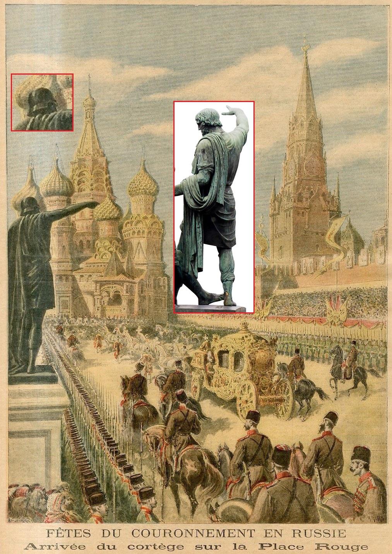 «Мрак истории»: Триумфальные ворота, Александровская колонна и памятник Минину и Пожарскому