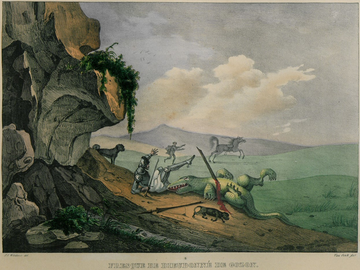 Fresque de Dieudonné de Gozon. 1346-1353гг