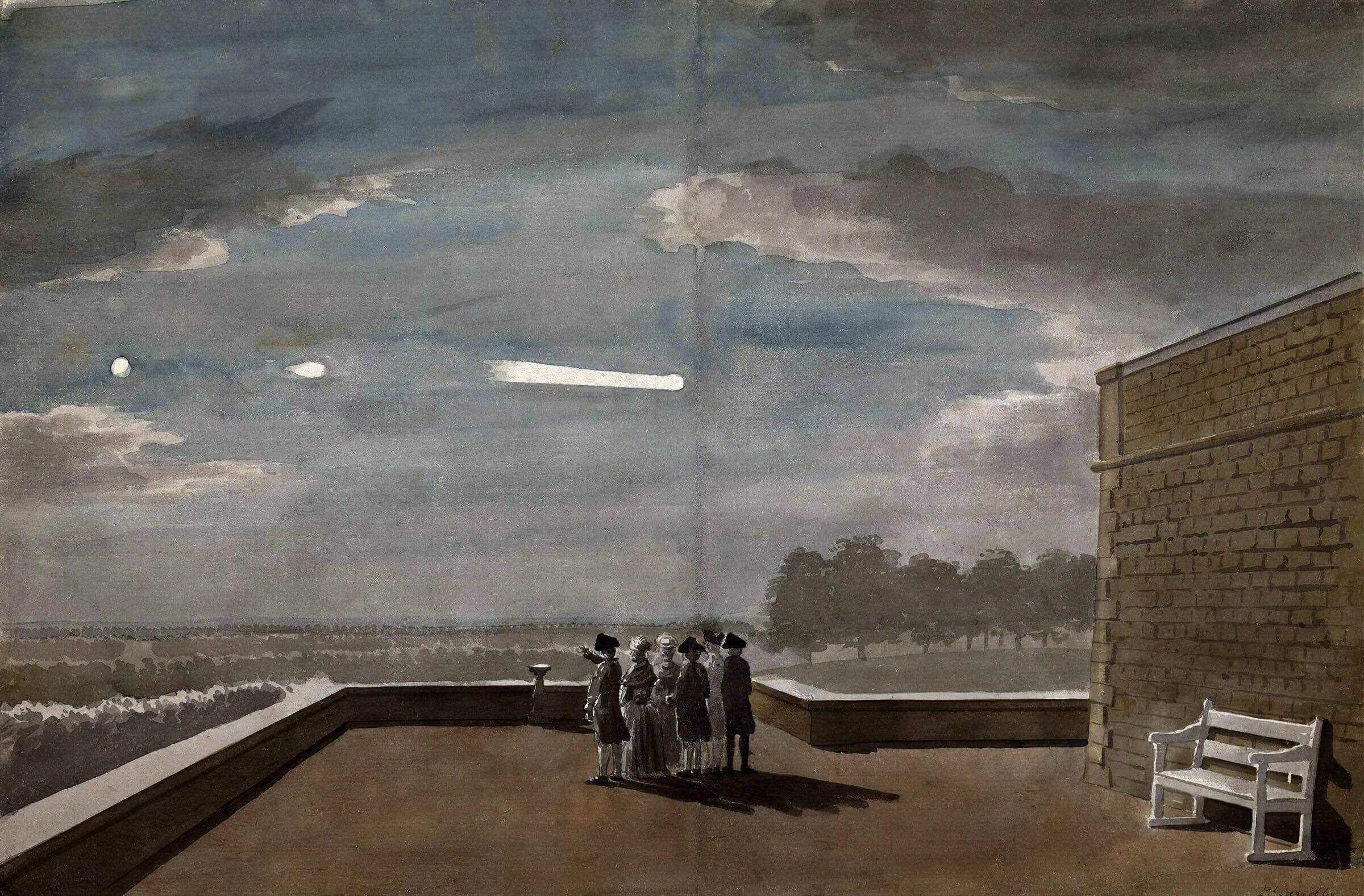 Появление НЛО в небе над Англией 18 августа 1783 года