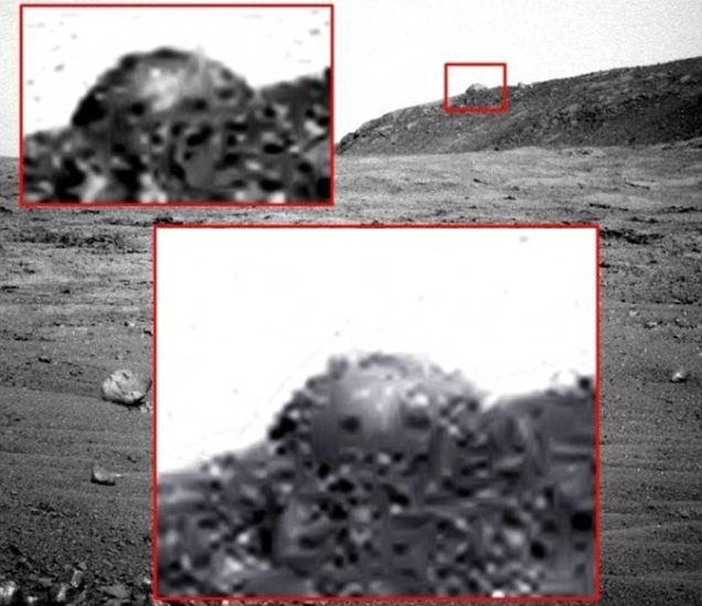 На Марсе нашли кополообразное строение