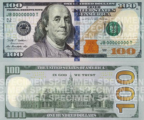 8a70d70a9184 Финансовые власти Соединенных Штатов вводят в обращение новую  100-долларовую купюру. Она потеряла бывший когда-то традиционным зеленый  цвет и обрела новые ...