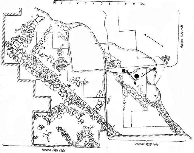 Первые местные катакомбы