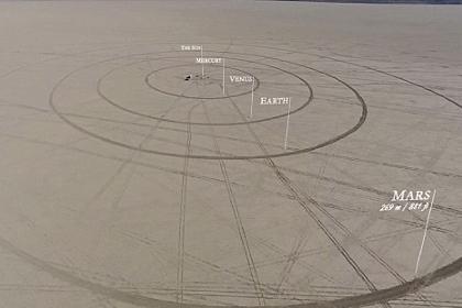 В США создали гигантскую модель Солнечной системы
