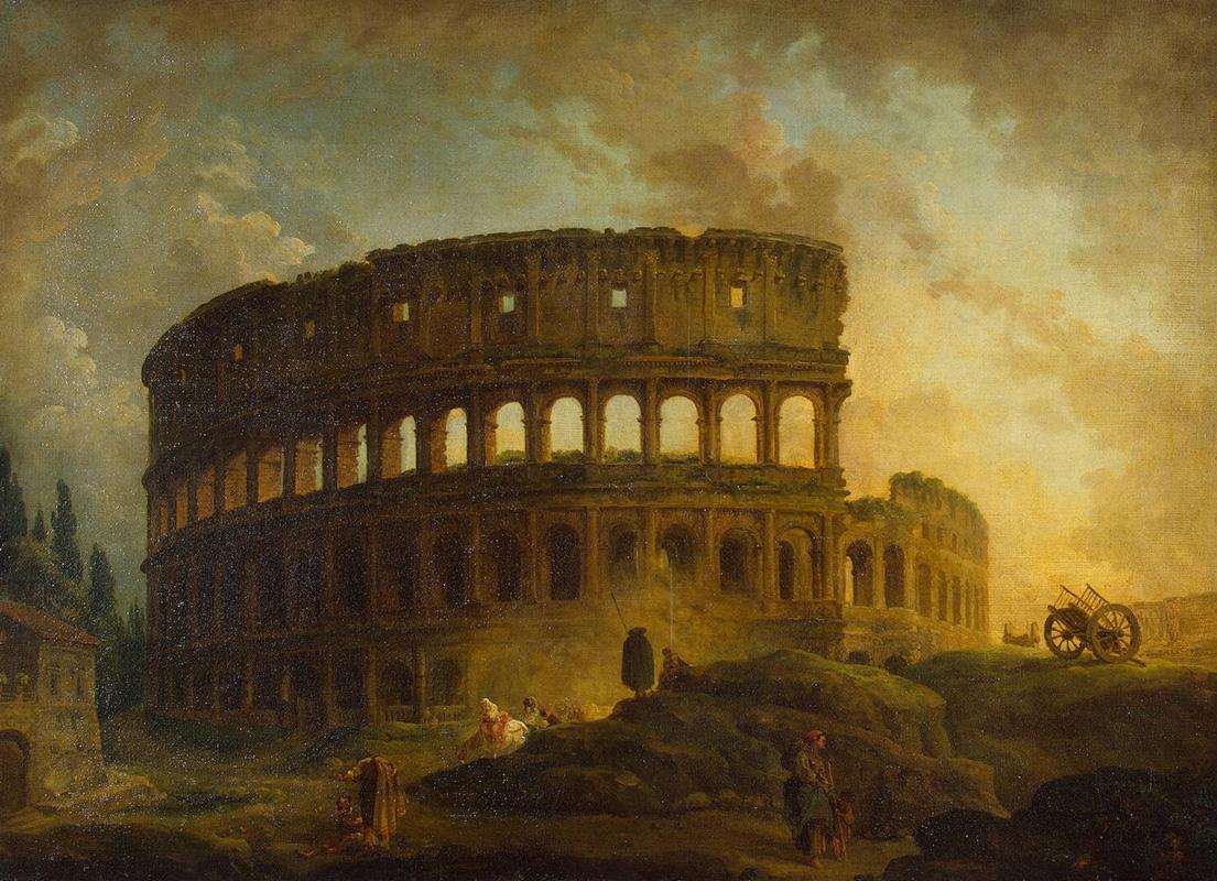 Roman ruins painting