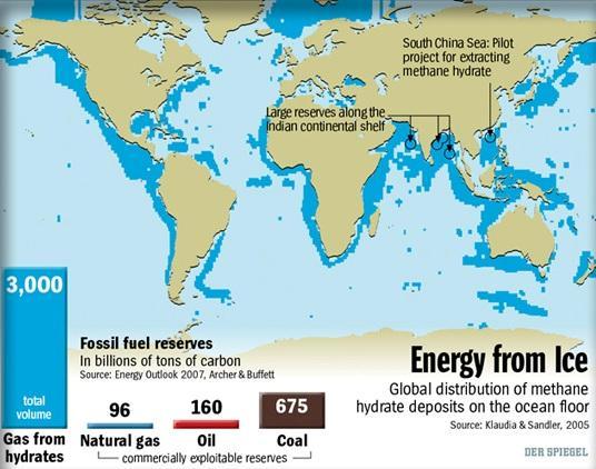 Карта распределения основных