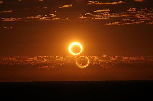 Необычное солнечное затмение 3