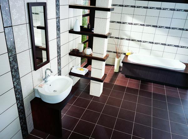 Керамическая плитка – лучший выбор в ванную комнату