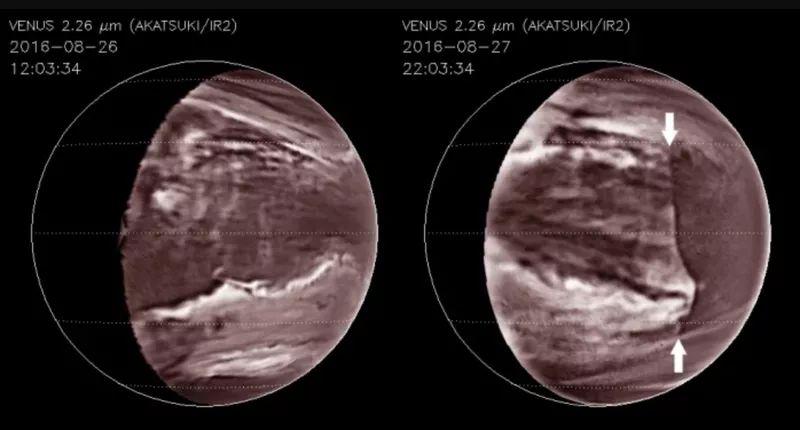 Гигантскую волну нашли в ядовитых облаках Венеры