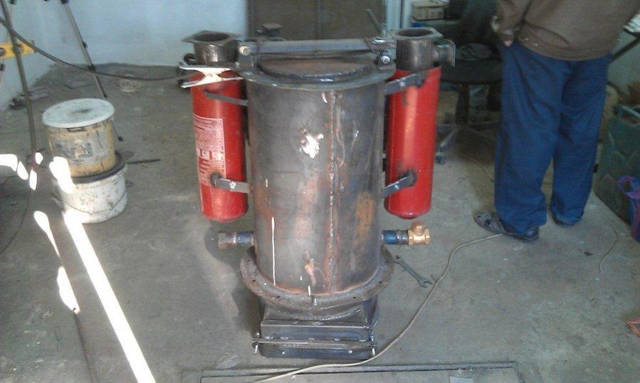 Изготовление газогенератора на дровах 23